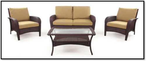 Key West Patio Set (Loveseat, 2 Chairs, Coffee Table) - Premium Wholesale