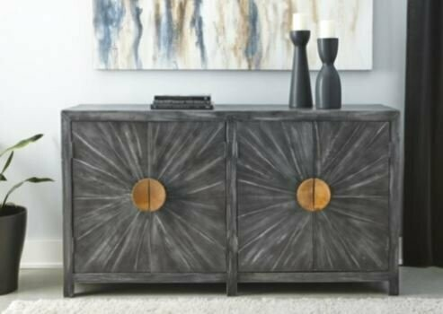 ASHLEY ACCENT CABINET S-A4000072. Snugglers Furniture