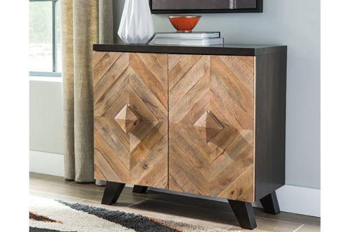 ROBIN RIDGE TWO-TONE DOOR ACCENT CABINET. Snugglers Furniture