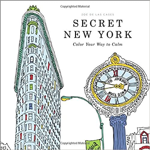 Image for Secret New York - colouring book