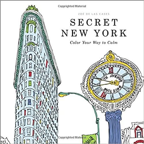 Secret New York - colouring book